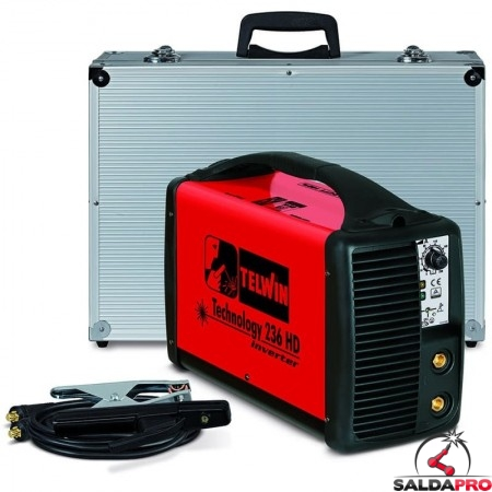 Saldatrice Inverter MMA e TIG TECHNOLOGY 236 HD 230V in valigetta