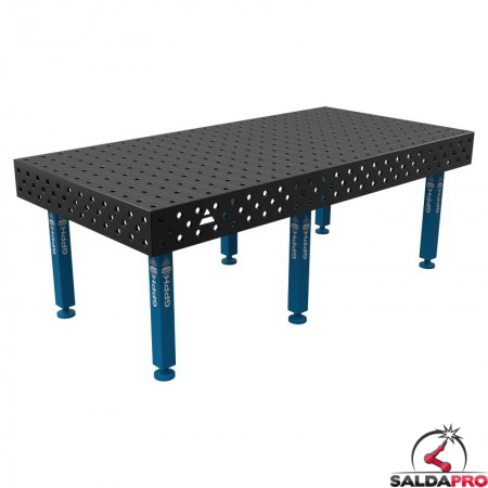 Banco per saldatura SteelPlus GPPH 2,4x1,2mt spessore 12mm, fori 16mm