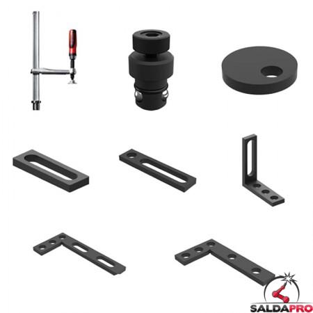Set di accessori di serraggio 26 pezzi per tavoli saldatura GPPH