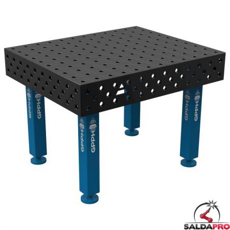 Banco per saldatura SteelMax GPPH 1,2x1mt spessore 15mm, fori 28mm