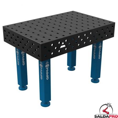 Banco per saldatura SteelMax GPPH 1,2x0,8mt spessore 15mm, fori 28mm