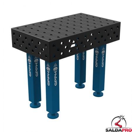 Banco per saldatura SteelMax GPPH 1x0,6mt spessore 15mm, fori 28mm