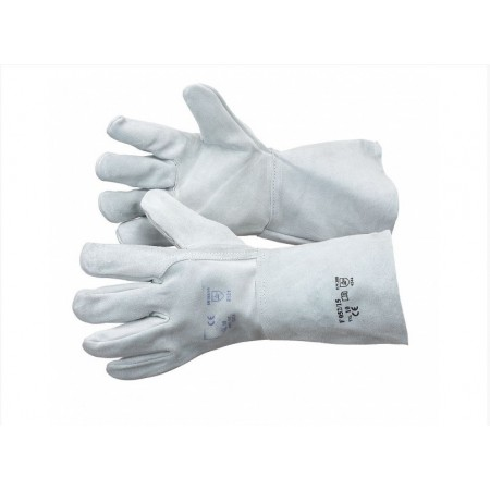 Guanti di protezione rinforzati in pelle crosta con manichetta 15cm