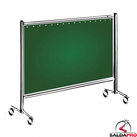 pannello protettivo mobile 200x200 cm tenda verde grado protezione DIN 9 saldatura