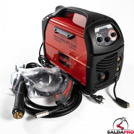 Saldatrice Inverter a filo TECHNOMIG 180 DUAL SYNERGIC EURO 230V