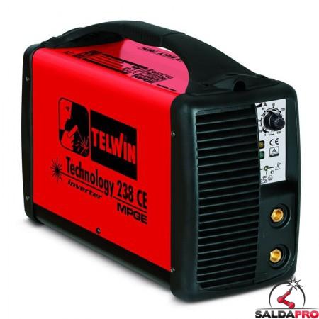 Saldatrice Inverter MMA e TIG TECHNOLOGY 238 CE/MPGE 230V