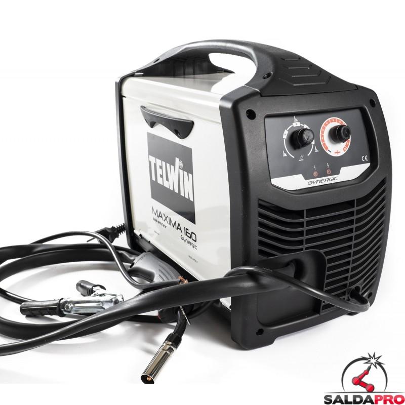 Saldatrice inverter Telwin Maxima 160 Synergic 230V saldatura MIG-MAG