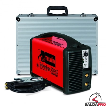 Saldatrice Inverter MMA e TIG TECHNOLOGY 238 CE/MPGE 230V in Kit