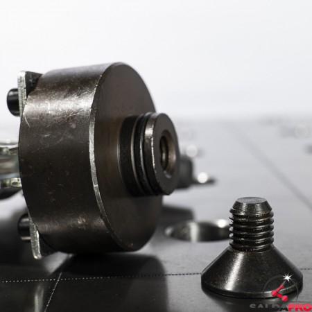 base morsetto a leva verticale scartamento fisso per tavoli saldatura 28mm