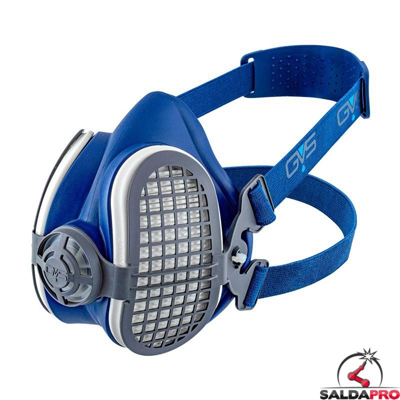 respiratore a semimaschera GVS SPR591 con filtri e custodia