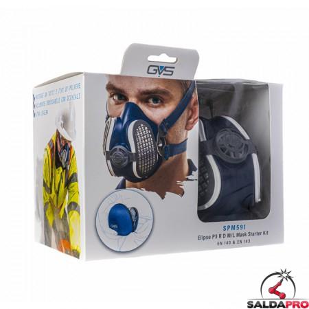 dettaglio confezione respiratore a semimaschera GVS SPR591