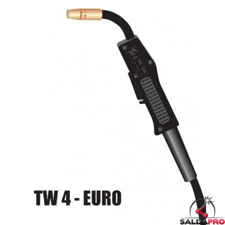Torcia completa TW4 attacco EURO per saldatura MIG
