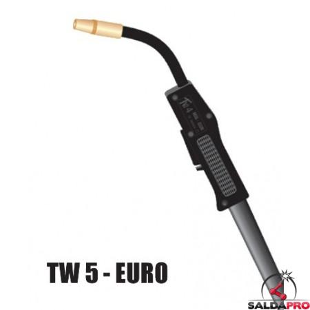 Torcia completa TW5 attacco EURO per saldatura MIG