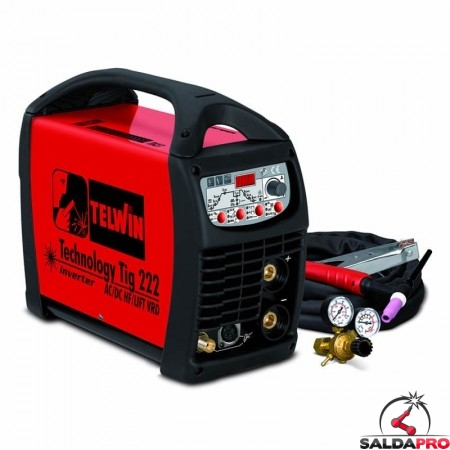 Saldatrice Inverter TECHNOLOGY TIG 222 AC DC - HF LIFT 230V