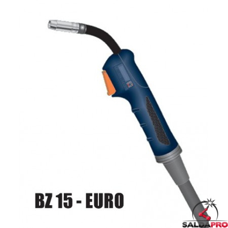 Torcia completa ERGON BZ 15 attacco EURO saldatura MIG
