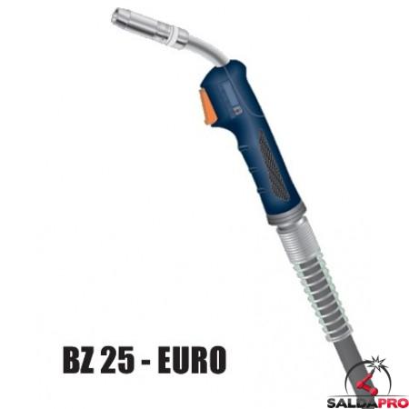 Torcia completa ERGON BZ 25 attacco EURO saldatura MIG
