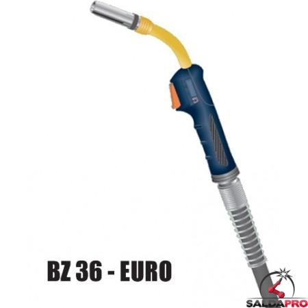 Torcia completa ERGON BZ 36 attacco EURO saldatura MIG