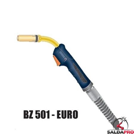 Torcia completa ERGON BZ 501 attacco EURO saldatura MIG