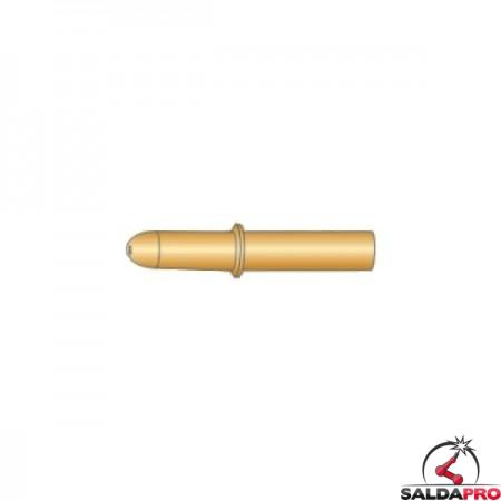 Punte guidafilo con anellino CuCrZr 6x35 Ø0,8-1,2 per torce DINSE - (10pz)