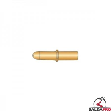 Punte guidafilo con anellino CuCrZr 8x45 Ø0,8-1,6 per torce DINSE - (10pz)