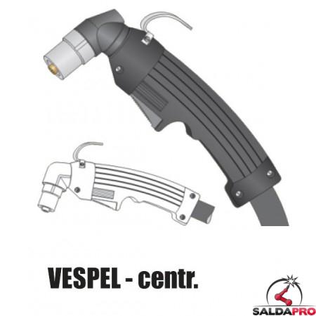 Torcia completa Cebora P50 in VESPEL® attacco centralizzato taglio al plasma