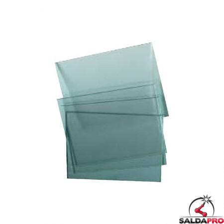 Vetro temprato trasparente per maschera da saldatura 90x110 (10pz)