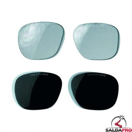 Lenti per occhiali protettivi N 37 da saldatura