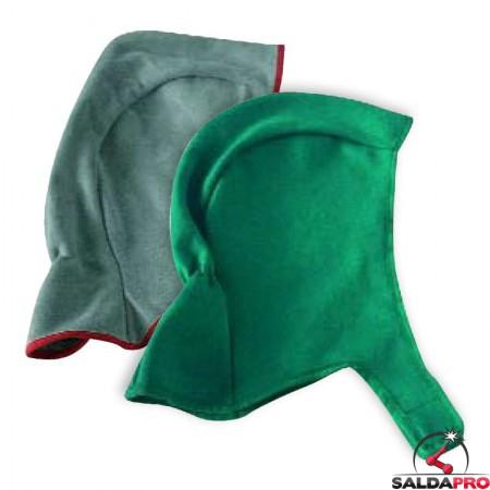 Cuffia protettiva in pelle o cotone per saldatore