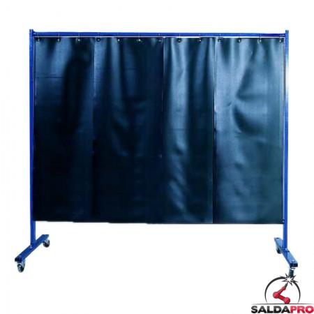 Parete protettiva Arroweld con tenda a lamelle per saldatura 210x183 cm