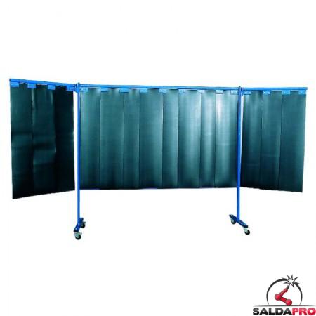 parete protettiva 3 pezzi lamelle 380x183 protezione saldatura
