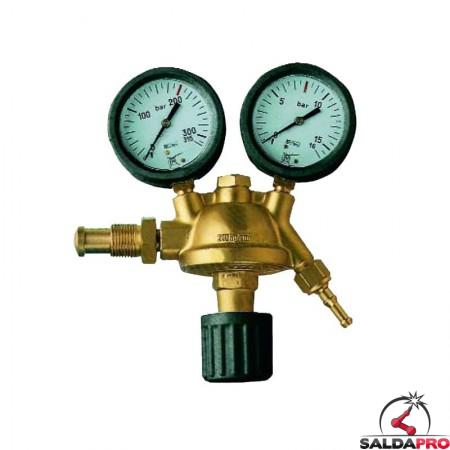 riduttore pressione azoto saldatura ossiacetilenica con manometri