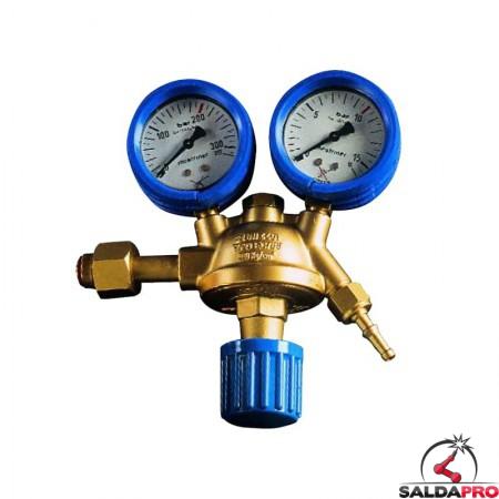 riduttore pressione per ossigeno in ottone saldatura ossiacetilenica con manometri