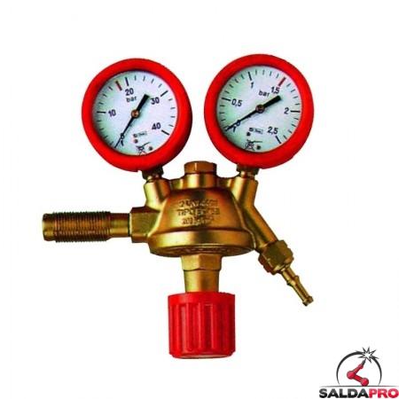riduttore pressione acetilene in ottone saldatura ossiacetilenica con manometri