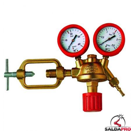 riduttore pressione acetilene a staffa saldatura ossiacetilenica con manometri