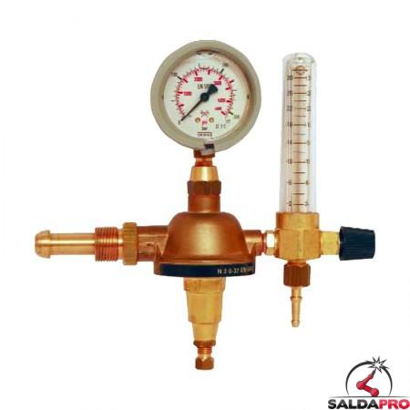 riduttore di pressione argon mix saldatura mig mag tig con flussimetro manometro