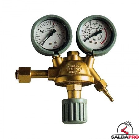 riduttore pressione co2 argon con manometri saldatura mig mag tig