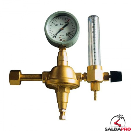 riduttore pressione CO2 argon saldatura mig mag tig con manometro flussimetro