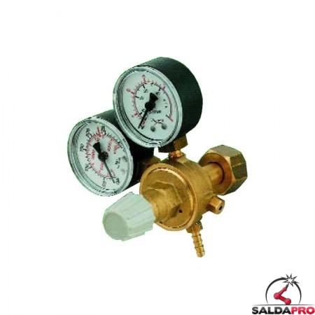 Riduttore di pressione micro CO2 con 2 manometri
