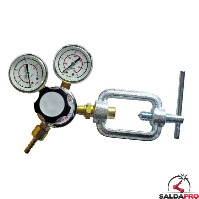 riduttore pressione con staffa armix acetilene con manometri saldatura ossiacetilenica