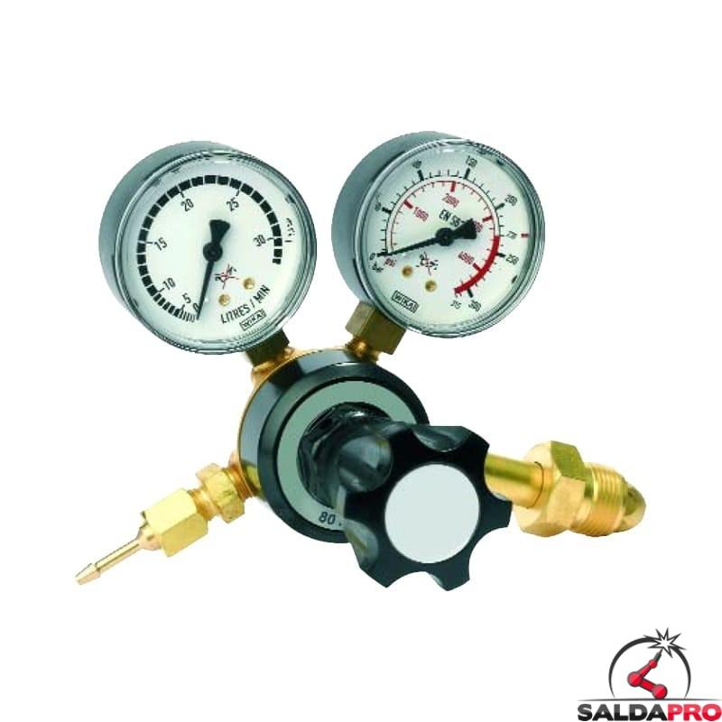 riduttore pressione argon mix con manometri saldatura mig mag tig