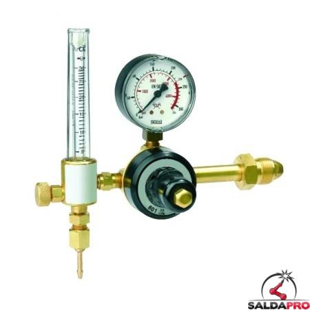 riduttore pressione argon mix saldatura mig mag tig manometro flussometro