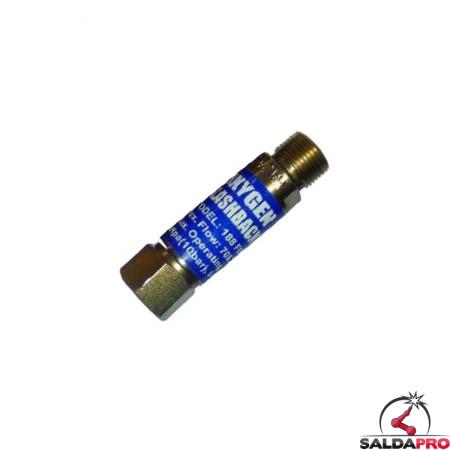 Valvola in ottone per impugnature e cannelli taglio ad Ossigeno