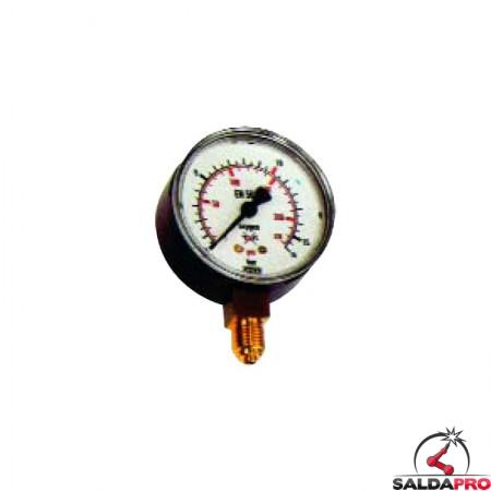 manometro per riduttori di pressione ossigeno bp saldatura ossiacetilenica