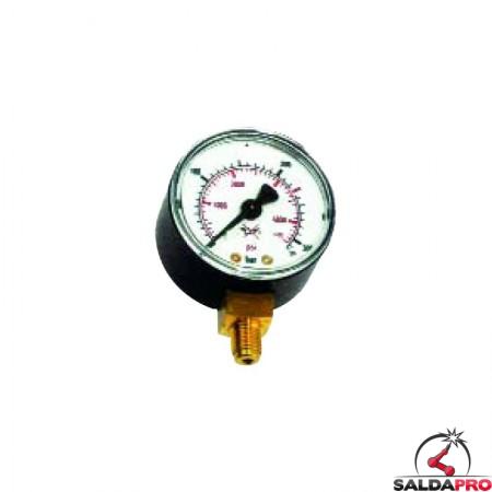 Manometro Argon CO2 AP per riduttori di pressione