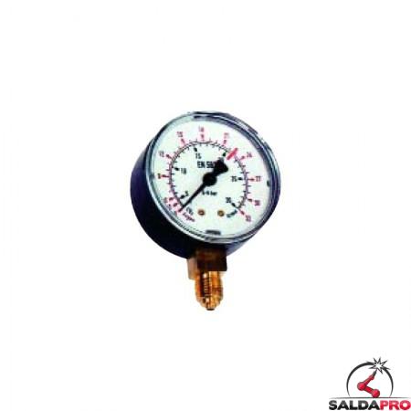 manometro argon CO2 BP per riduttori di pressione saldatura mig mag tig