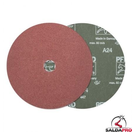 disco fibrato corindone abrasivo 100-180mm grana 24-120 combiclick