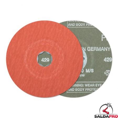 disco fibrato corindone abrasivo additivato 115-180mm grana 50-220 combiclick
