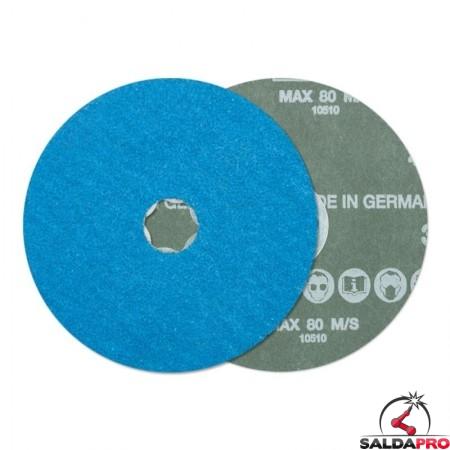 disco fibrato corindone zirconio additivato 125-180mm grana 36-80 combiclick