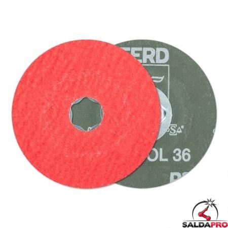 disco fibrato abrasivo ceramico additivato 100-180mm grana 24-120 combiclick