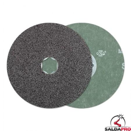 disco fibrato carburo silicio 115-125mm grana 36-120 combiclick